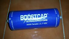 Maxwell 3000F 2.7V super capacitor with screw terminal.