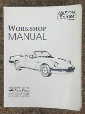 Intl Auto Parts Alfa Romeo Spider Veloce Graduate Workshop Service Repair Manual