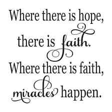 STENCIL*Where there is hope, ther is faith*12x12 for painting sign,fabric,canvas