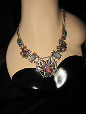 Betsey Johnson SPIDER LUXE  WITH WEB NECKLACE