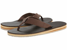 Scott Hawaii Luahi Sz US 13 M Brown Nylon Strap Flip Flops Sandals Mens Shoes