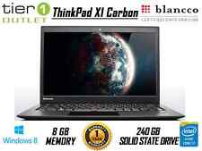 Lenovo ThinkPad X1 Carbon V2 Core i7-4600U 2.10GHz 240 GB SSD Pro Ultrabook.