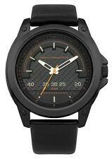 French Connection FC1193BB Black Dial Black Leather Strap Men's Quartz Watch