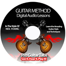 NEIL YOUNG Guitar Tab Software Lesson CD + BACKING TRACKS + FREE BONUSES