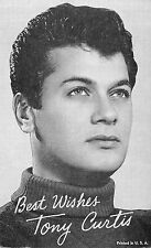 TONY CURTIS AMERICAN FILM ACTOR ARCADE CARD NON-P/C