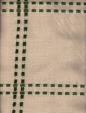 Zweigart HEARTHSIDE AFGHAN Fabric Beige/Dark Green