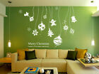 Christmas Decals Snowflake String Vinyl Shop Window / Wall Stickers UK XIN04