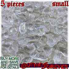 5 Small 10mm Free Ship Tumbled Gem Stone Crystal Natural - Quartz Very Clear