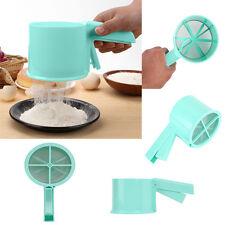 Flour Sugar Icing Mesh Sifter Shaker Baking Plastic Sieve Powder Kitchen Tool