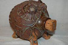 Piggy Bank Coin Pot Belly Pig  Hog Sow Statue Art Pottery Figure
