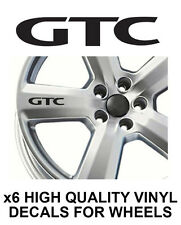 OPEL VAUXHALL GTC ALLOY WHEEL STICKERS Graphics X6