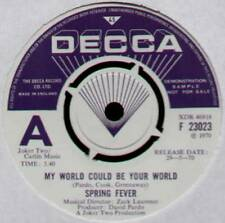 "[COOK / GREENAWAY] SPRING FEVER~MY WORLD COULD BE YOUR WORLD~1970 UK ""DEMO"" 7"""