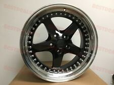 "18"" BLACK EQUIP STYLE RIMS FITS BMW 5X120 STAGGERED 18X8.5/9.5"" WIDE LIP"