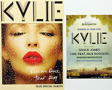 2 X KYLIE MINOGUE FLYERS HYDE PARK 2015 & KISS ME ONCE 2014 TOUR