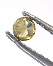 0.07TCW Round Shape Brilliant cut Champagne Yellow color Natural Loose Diamond
