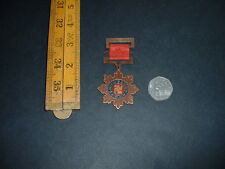 WW2 ORIGINAL VINTAGE CHINESE MILITARY WAR MEDAL SWASTIKA AND RIBBON