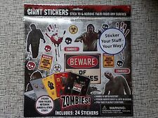 ZOMBIES! 24 Giant Stickers Decals