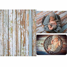3x5FT Wooden Wall Floor Backdrop Background for Newborn Baby Photo Studio Props