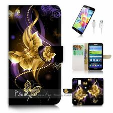 Samsung Galaxy S5 Flip Wallet Case Cover P2719 Butterfly