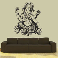 Wall Decal Vinyl Sticker  Elephant Ganesh Buddha Lotus Om God r669