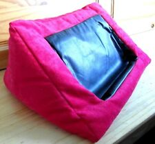 TABLET CUSHION Beanbag iPad Plush Red Fabric pillow E Reader Kindle stand