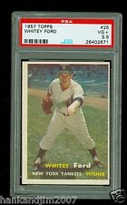 Whitey Ford 1957 Topps Card #25 Yankees PSA Graded 3.5 VG+ Sharp looking card