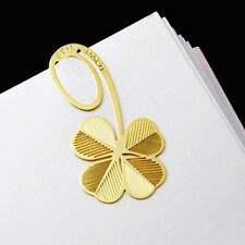 Lucky Gold Four-leaf Clover Reading Metal Clip Bookmark Cute Gift Book Mark Note