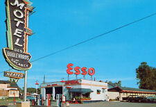 Vintage Esso Gas Service Station Beauport Canada 1960s (photo print of postcard)