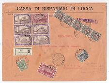 W621-RACCOMANDATA DA VIAREGGIO A LUCCA 1926