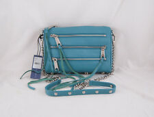 Rebecca Minkoff Mini 5-Zip Clutch inTeal with Silver  Hardware NWT