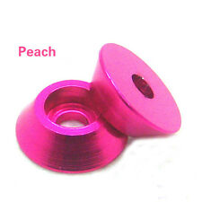 10PCS M4 Aluminum Alloy Cone Cup Head Screw Gasket Washer Peach Color