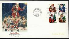US 2001 Christmas Santa Claus (3541-44) FDC - Vending Booklet . Fleetwood FDC