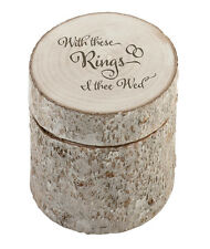 White Washed Pine Ring Holder With These Rings Wedding Ring Pillow Alternative