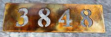"Address Plaque 16"" wide  Copper/Bronze Plated"