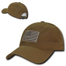 Coyote USA US American Flag Patch United States America Polo Baseball Hat Cap