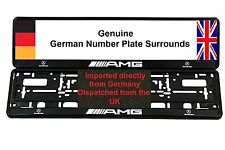 MERCEDES AMG Number Plate Surrounds X 2 CLK CL55 SL55