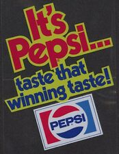 Pepsi Cola Coca 16 adesivo cm USA 1970er It's pulsante that winning