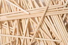 X50 230mm x 5mm ronde en bois lollipop gâteau pop sticks lolly lollies crafts