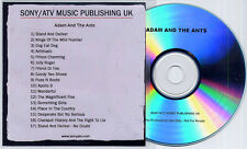ADAM & THE ANTS Sampler 2009 UK 17-trk promo only publishing CD Sony/ATV