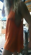 One Teaspoon Burnt Orange Silk Play Suit sz 10