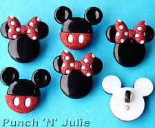 MICKEY AND MINNIE - Disney Boy Girl Mouse Animals Dress It Up Craft Buttons