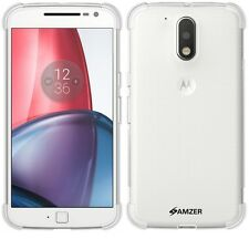 Amzer Clear Pudding TPU X Protection Skin Fit Case For Motorola Moto G4 /G4 Plus