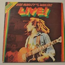 BOB MARLEY - LIVE! - 1975 FIRST PRESS ITALIA LP + POSTER