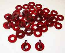 50 Tattoo Machine Red Acrylic Coil Core Washers Parts, Binder post,  Made USA