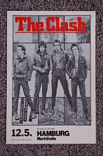 The Clash Concert Tour Poster 1980 Germany Hamburg Markthalle