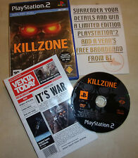 PLAYSTATION 2 PS2 GAME KILLZONE 1 I +BOX INSTRUCTIONS COMPLETE PAL GWO