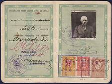 1928 ESTONIA WEAPONS PERMIT, 20 REVENUE STAMPS