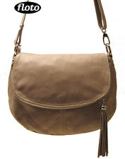 FLOTO Trastevere Hobo Bag - handbag in Italian Nappa Leather (7008BEIGE)