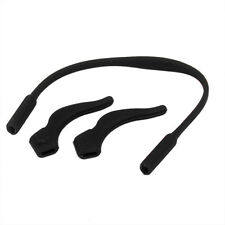 Kids Silicone Band Strap+ Ear Hooks for Glasses Eyeglass sunglasses Black