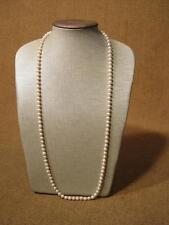 ███►alte schöne lange Perlenkette mit 585er Goldverschluß(Fach 81)